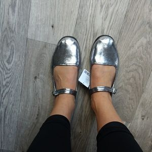 🌟NEW🌟 Urban Outfitters mary Jane flats metallic
